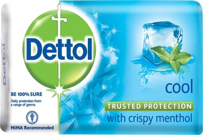 Dettol Cool with Crispy Menthol Soap - 75g (Pack of 4)(75, Pack of 4)