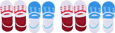 YJ FASHION Men & Women Printed Peds/Footie/No-Show(Pack of 12)