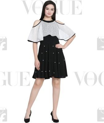 My Swag Women A-line Black Dress