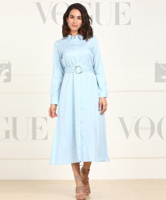 AND Women Shirt Light Blue Dress