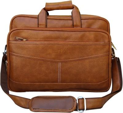 SM Men Brown Messenger Bag