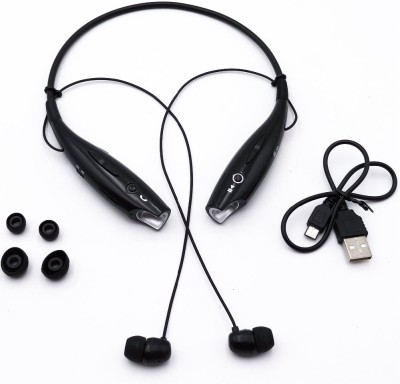 allmusic Wireless Headphone Oppo/Vivo Stereo Earphone Sweatproof Neckband Bluetooth Headset(Black, In the Ear)