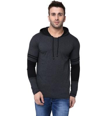 Helmont Solid Men Hooded Black, Dark Blue T-Shirt(Pack of 2)