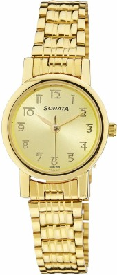 Sonata NF8976YM06CJ Analog Gold Dial Men's Watch (NF8976YM06CJ)