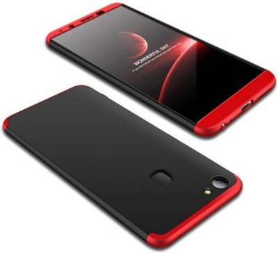 BRK Front & Back Case for VIVO V7 Plus(Red, Black, Shock Proof)