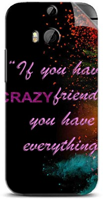 Snooky Crazy Friends 1260M-SknH Htc One M8 Mobile Skin(Multicolor)