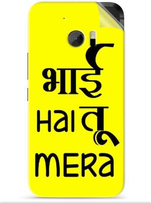 Snooky Bhai hai tu mera 1247M-SknHtm10 HTC One M10 Mobile Skin(Yellow)