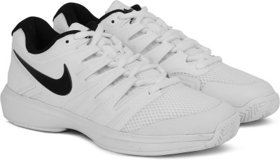 Nike AIR ZOOM PRESTIGE HC Tennis Shoe For Men(White) 1