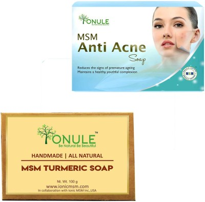 Ionule MSM Anti Acne Soap Turmeric Soap Combo of 2(200 g, Pack of 2