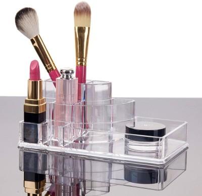 Styleys Cosmetic Organizer Makeup Jewellery Acrylic Lipstick Storage Organiser Box (Model-1106-1) Multi Purpose Vanity Box Vanity Box(White)