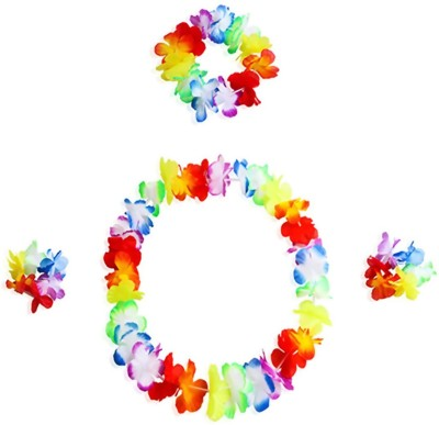 Saizen Hawaiian Hula Garland Set for Hawaiian Party Or Pool Party Or Birthday Party(Set of 1)