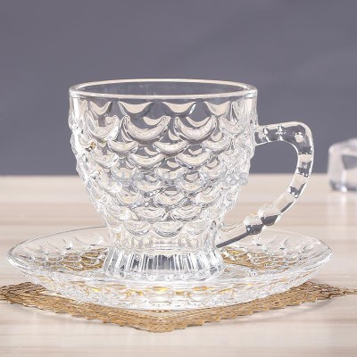 DUCATI LIMITED EDITION 6 CUP AND 6 SAUCER SET Glass Clear, Pack of 12