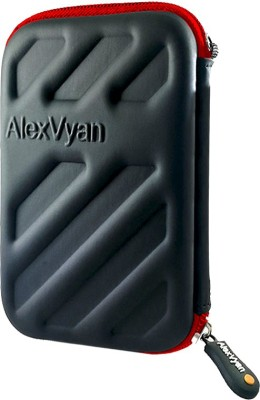 AlexVyan Pouch for Seagate Backup Plus Slim 1TB 2TB External Hard Disk Drive Casing Case Cover Enclosure Bag Sleeve(Black, Shock Proof)