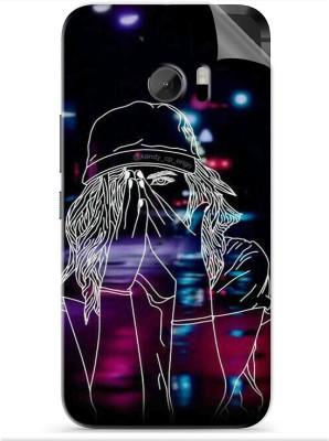 Snooky Rock Hard 1306M-SknHtm10 HTC One M10 Mobile Skin(Black)