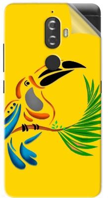 Snooky parrot Design 1302M-SknLnvK8 Lenovo K8 Mobile Skin(Yellow)