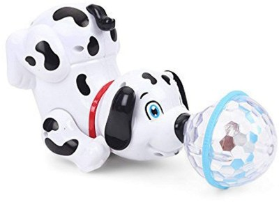 R.G Dancing Dog with Music Flashing Lights- Improves Hand Eye co-Ordination(White, Black)