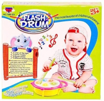 TinyTales Flash Drum with 3D Lights and Musical Toys for Boys and Girls  (Multicolor)(Multicolor)