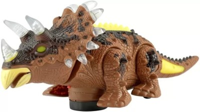 Exaltedcollection Bump and Go musical Dinasaur With music and 3d light effects for kids(Multicolor)