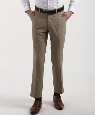 MARKS & SPENCER Regular Fit Men Beige Trousers