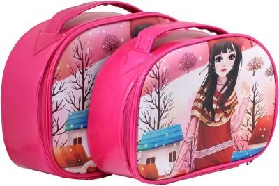 Ranger 2Set Pink Vanity Kit, Make-up kit makeup kit, jewellery kit, travel kit Vanity Box(Pink, Multicolor)