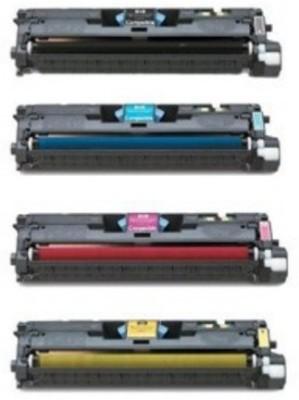 VITSA 122A / Q3960A / CQ3961A / CQ3962A / Q3963A Toner Cartridge Compatible with HP Color Laserjet 2550L / 2550LN / 2550N / 2820/2840 / 2830 (Set of 4) Black + Tri Color Combo Pack Ink Toner