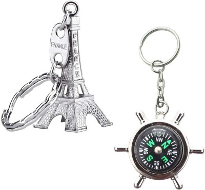 Stealodeal Eiffel Tower With Compass Key Chain