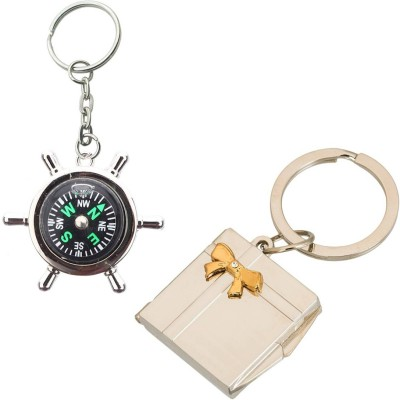 Stealodeal Compass With Photo Frame Key Chain