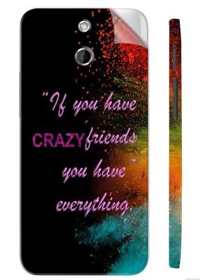 Snooky Crazy Friends 1260M-SknHtE8 Htc One E8 Mobile Skin(Multicolor)