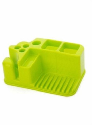infinity11 Storage Box Bathroom Toothbrush Toothpaste Holder Soap Rack Plastic Toiletries Container(Green)