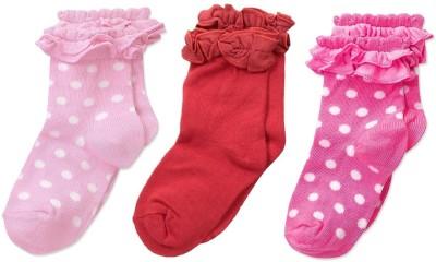 Footprints Organic Cotton Baby Girls Printed Mid Calf/Crew Pack of 3 Footprints Kids' Socks