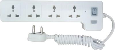 Syska 4 Way Power Strip 4  Socket Extension Boards(Grey, White)