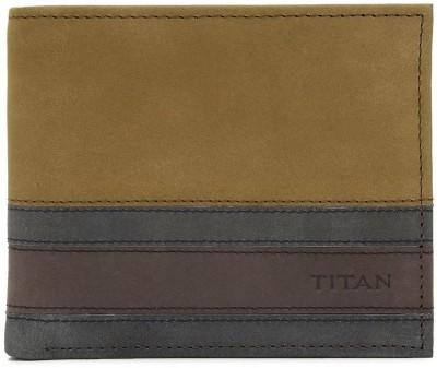 Titan Men Casual Multicolor Genuine Leather Wallet 6 Card Slots Titan Wallets