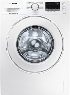 Samsung 8 kg Fully Automatic Front Load Washing Machine with In-built Heater White(WW80J44G0IW/TL) (Samsung)  Buy Online