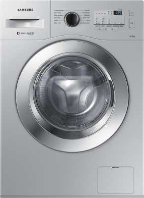 Samsung 6.5 kg Fully Automatic Front Load Washing Machine with In-built Heater Silver(WW65M206K0B/TL) (Samsung)  Buy Online