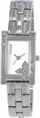 TitanNH9716SM01E Purple Analog Watch   For Women
