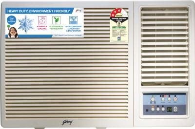 View Godrej 1.5 Ton 3 Star Window AC  - White(GWC 18UTC3-WSA, Copper Condenser) Price Online(Godrej)
