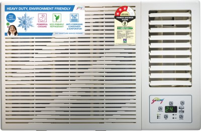 View Godrej 1 Ton 3 Star Window AC  - White(GWC 12DTC3-WSA, Copper Condenser) Price Online(Godrej)