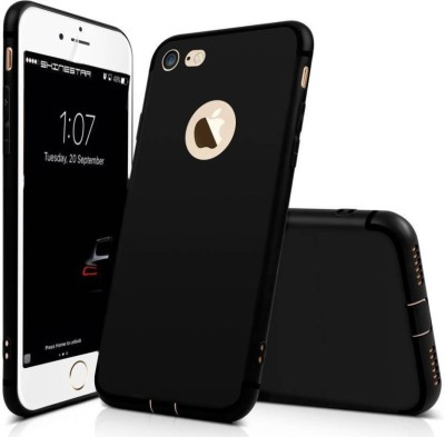 Vonzee Back Cover for Apple iPhone 8(Black, Silicon)