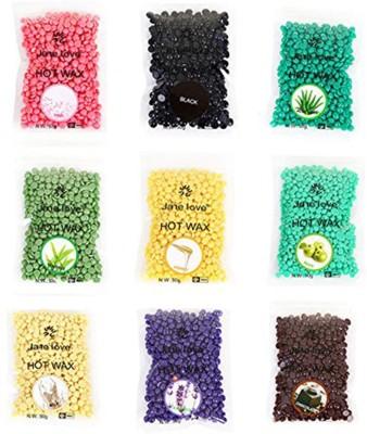 Bluejack kongsung chocolate, milk ,green , pink ,aloverav ,black ,yallow ,rose pinkand blue brazilian wax combo 9 strips ==+(50+50+50+50+50+50+50+50+50)gm Wax(450 g, Set of 9)