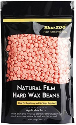 Bluejack Flavored Depilatory Pearl Hair Removal Hot Wax Beans pink 300 GM WAX Wax(300 g, Set of 2)