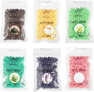 Bluejack kongsung ,chocolate ,green , pink ,black ,yallow and blue brazilian wax combo 6 strips ==+(50+50+50+50+50+50)gm wax Wax(300 g, Set of 6)