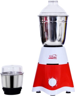 Silver Home STAR001 450 Mixer Grinder(RED AND WHITE, 2 Jars)