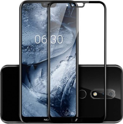 Chevron Tempered Glass Guard for Nokia 5.1 Plus(Pack of 1)