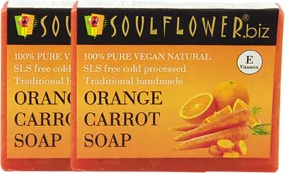 Soulflower Orange Carrot Soap Set of 2(2 x 150 g)