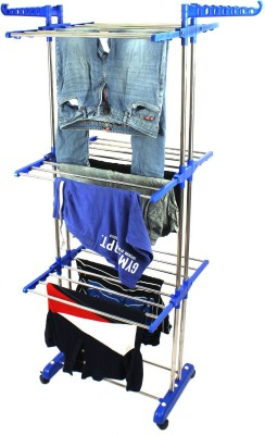 TNC Steel Floor Cloth Dryer Stand SS2POLLBS1(3 Tier)