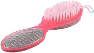 ADHBHUD 4 In 1 Foot File With Pedicure Brush(Pink)