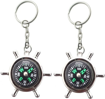 Stealodeal Direction Compass (Pack of 2) Key Chain