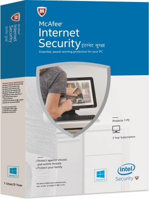 McAfee Intel Internet Security 2015 1 PC 3 years Antivirus