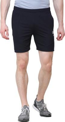 SPAWN Solid Men Dark Blue Sports Shorts