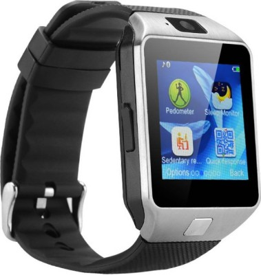 Welltech Bluetooth Smart Watch Phone Black Smartwatch(Silver Strap Standard)